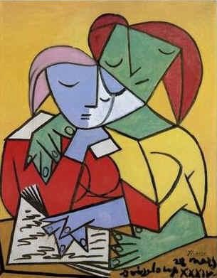 毕加索笔下的女人图片